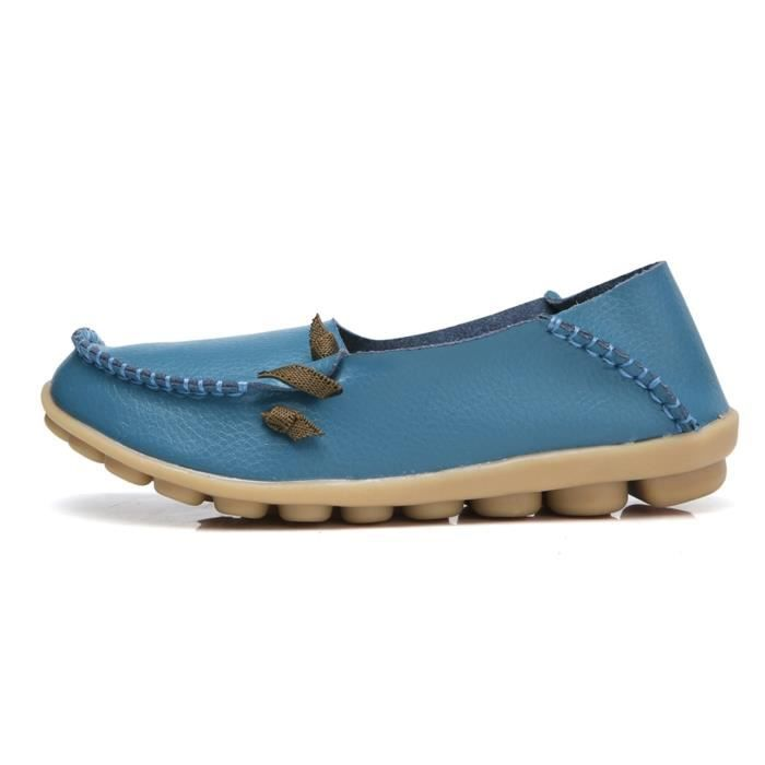 Comfort Walking Cute Flat Loafer W9QZX Taille-38