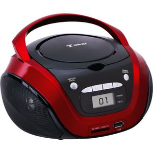 RADIO CD CASSETTE TOKAI TB208K Radio CD MP3/USB Noir et Rouge