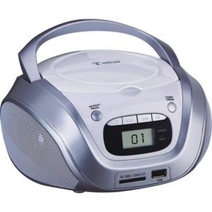 RADIO CD CASSETTE TOKAI TB208W Radio CD MP3/USB Blanc et Argent