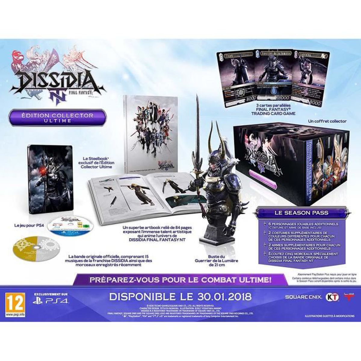 JEU PS4  Final Fantasy : Dissidia NT Edition collector ult