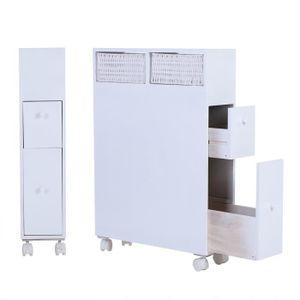COLONNE - ARMOIRE SDB Armoire de salle de bain en bois plancher de range