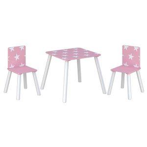 TABLE ET CHAISE Kidsaw étoile Rose, table et chaises