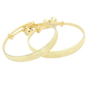 BRACELET - GOURMETTE Bracelet Ajustable en Or Jaune 24k Bracelet pour B
