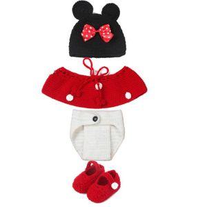 CHAPEAU - BOB Photographie bébé Vêtement Cartoon de Minnie Set l