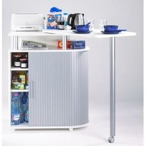 Desserte de cuisine avec table pivotante int gr achat vente desserte b - Buffet table integree ...