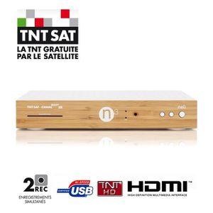 RÉCEPTEUR - DÉCODEUR   NELI N3 Décodeur double tuner TNTSAT HD CPL