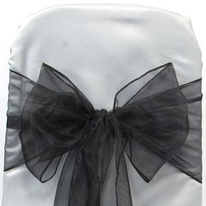 50 XL Papillon Mariage Nœud De Chaise Décoration table Argent Or Noir