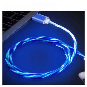 CÂBLE TÉLÉPHONE Lot de 4 Cable de charge USB Type C gamer LED 1 Mè