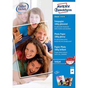 PAPIER PHOTO Avery Zweckform Paquet de 100 feuilles A4 180 g-m²