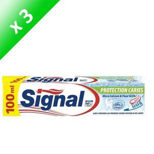 DENTIFRICE SIGNAL Lot de 3 dentifrices - Protection caries -