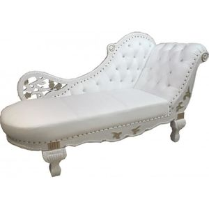 chaise baroque blanche pas cher cool chaise baroque chaise white gold real leather chaise with. Black Bedroom Furniture Sets. Home Design Ideas