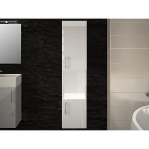 COLONNE - ARMOIRE SDB Colonne de salle de bain 2 portes blanche LEA - L