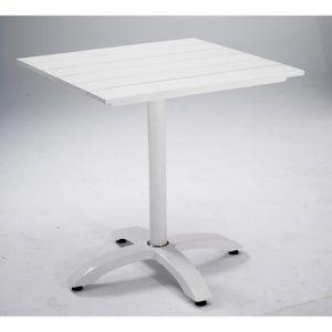 Table de bistrot Plateau de table résine imitation bois ...