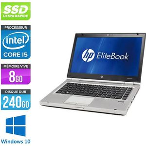 ORDINATEUR PORTABLE Pc portable HP EliteBook 8460P - i5 - 8Go - SSD 24