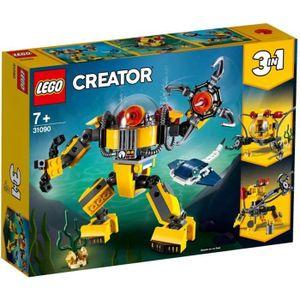 ASSEMBLAGE CONSTRUCTION LEGO® Creator 3-en-1 31090 Le Robot Sous-Marin