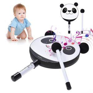 MAILLET Panda de dessin animé tambour tambourin tambour ma