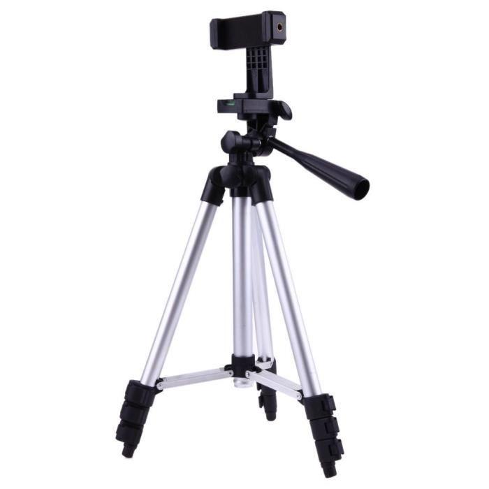 Trépied photo,Support de trépied de caméra pliable professionnel avec 1-4 -vis 360 degrés stabilisateur tête fluide en aluminium #A