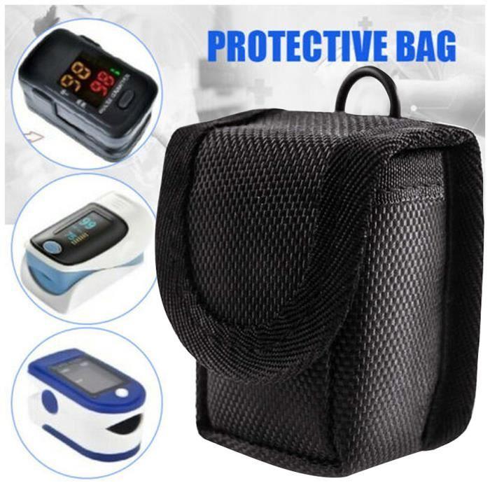 Pochette pour oxymètre de pouls pour doigt Sac de rangement pour étui portable Sac de protection noir ke770