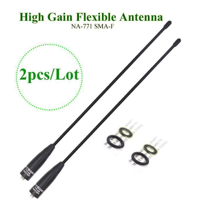 100 Original Nagoya NA-771 deux voies antenne Radio SMA femelle pour BaoFeng UV-5R UV-82 BF-888S émetteur-récepteur [837781F]
