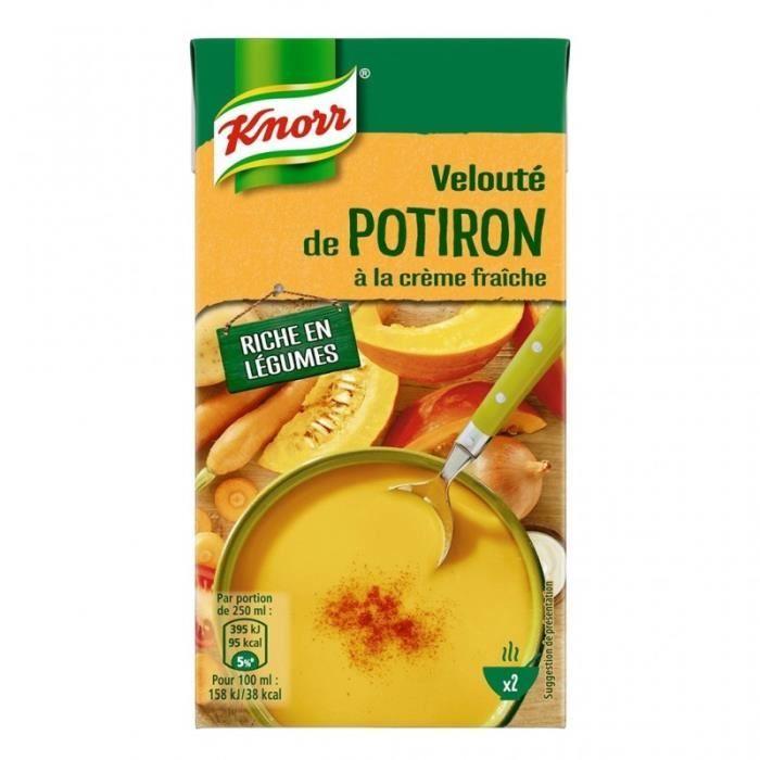 Knorr Velouté de Potiron à la Crème Fraîche 50cl (lot de 4)