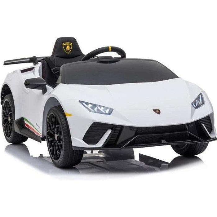 Lamborghini Huracán Blanc Voiture Électrique Enfant Véhicule Bébé 12V