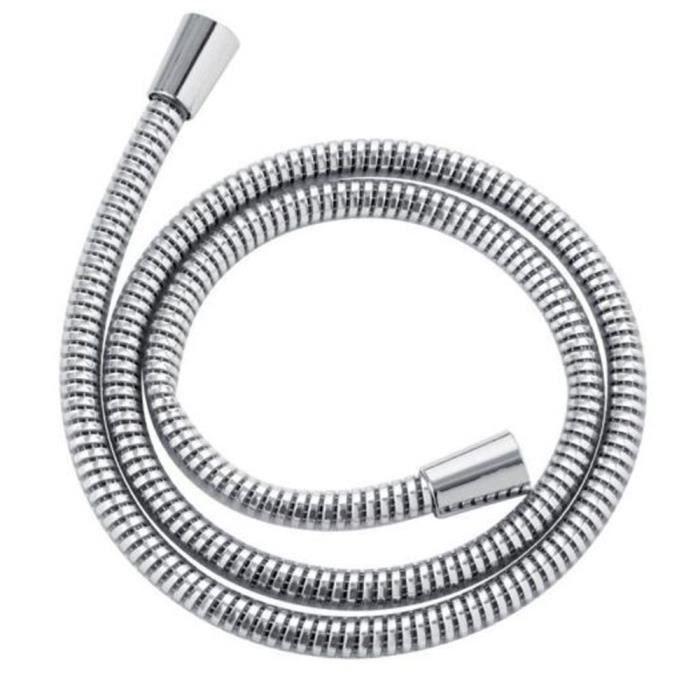 Flexible de douche 150 cm PVC chromé anti-torsion accessoires 718011