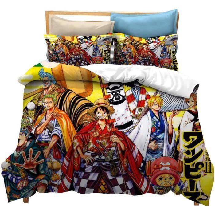 housse de couette Housse de Couette One Piece 220 X240 cm 12 Personne Motif 3D Luffy Zoro Sanji Ace Law Housse de Couette Manga 811