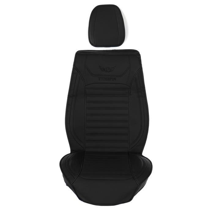 Housse de siège avant Auto - Cuir PU - Noir