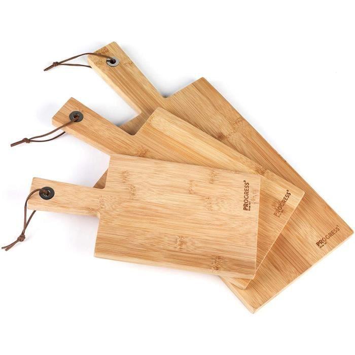 PLANCHE A DECOUPER Lot de 3 planches &agrave d&eacutecouper en bambou Progress&reg BW0508283