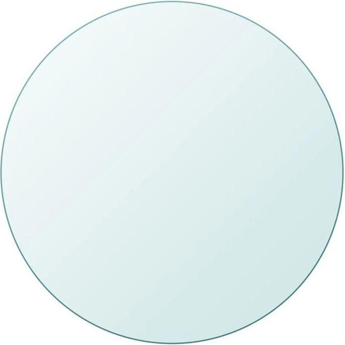 Dessus de table Plateaux de table ronde en verre trempé 700mm -GAR