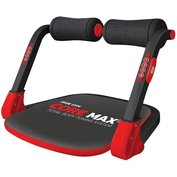 BANC DE MUSCULATION IRON GYM Core Max – Appareil de Musculation Compact Mixte Adulte pour Abdominaux, Biceps, Triceps, Dos, Bu77