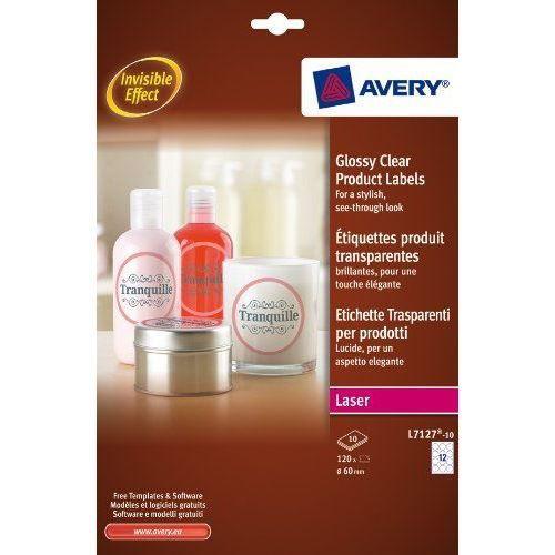AVERY - L7127-10 - 120 étiquettes adhésives tra…