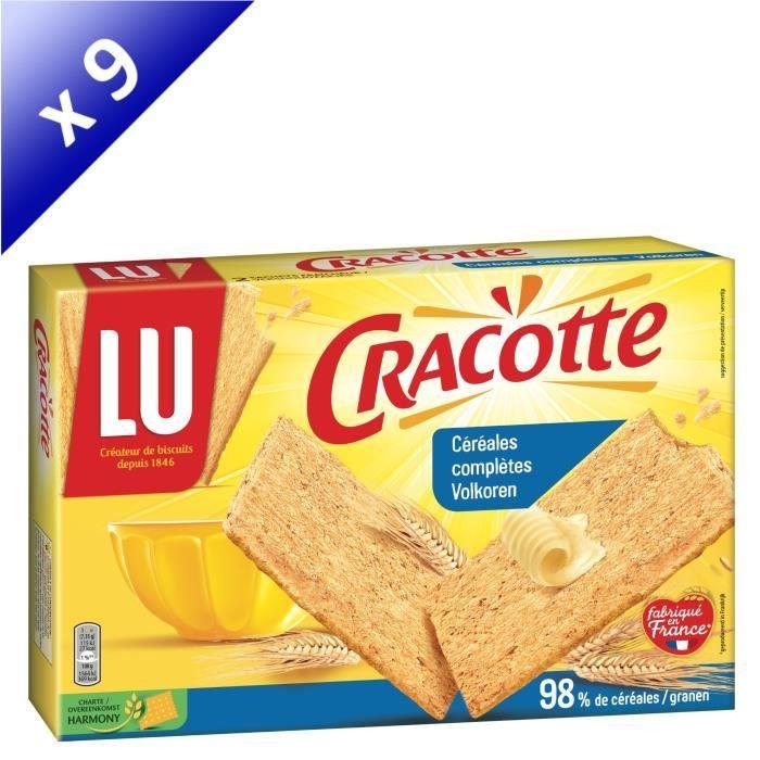 [LOT DE 9] LU Cracotte Céréales complètes 250g