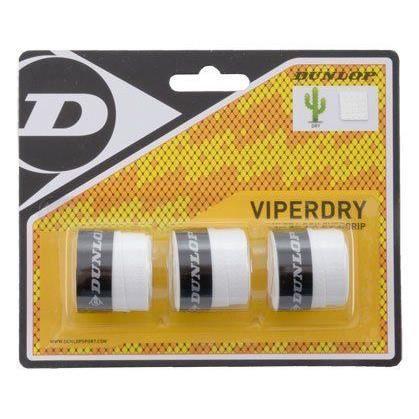 Dunlop Viperdry Overgrip Boîte de 12 blister de 3 surgrips Blanc