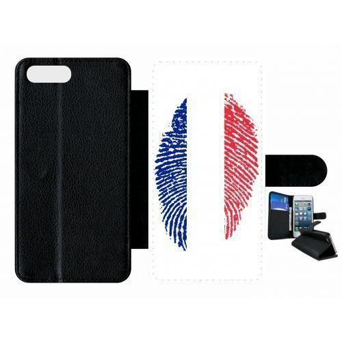 etui rabat apple iphone 7 plus empreinte digitale drapeau france!!!