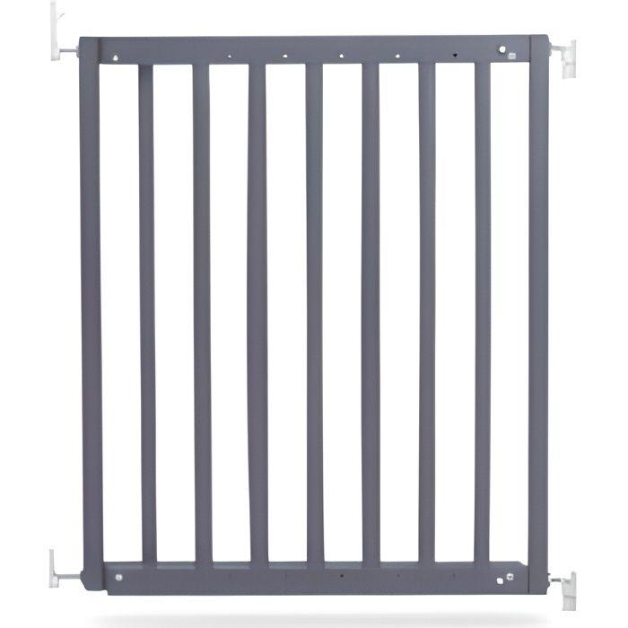 GEUTHER Barrière extensible en Hêtre coloris gris pour porte et escalier - Réglable : 63,5 - 105,5 cm