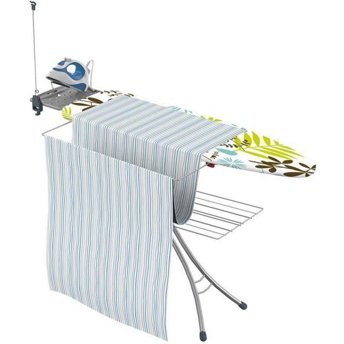Gimi Advance 100 Table à Repasser avec Support Amovible en métal Gris 144 x 56,5 x 90 cm