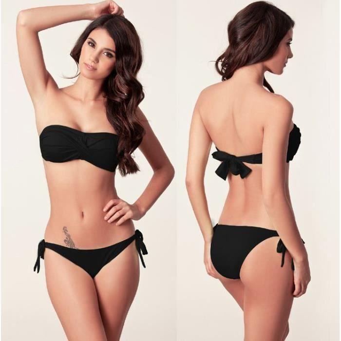 Maillot de bain Bikini détachabl... Noir