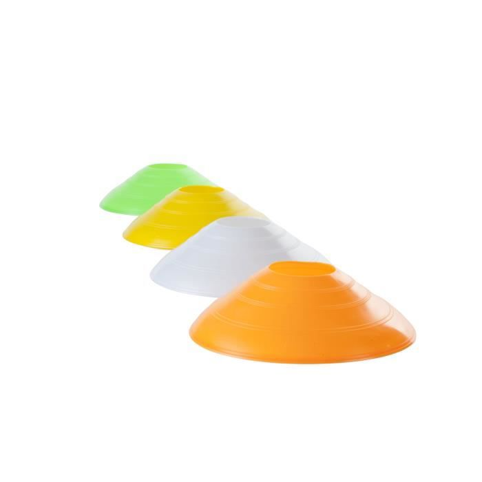 PURE2IMPROVE Plots cônes fluorescents - Fitness - Orange/Blanc/Jaune