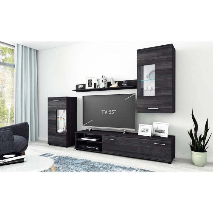 Ensemble Meuble Tv Design -vany- 463cm Noir - Paris Prix