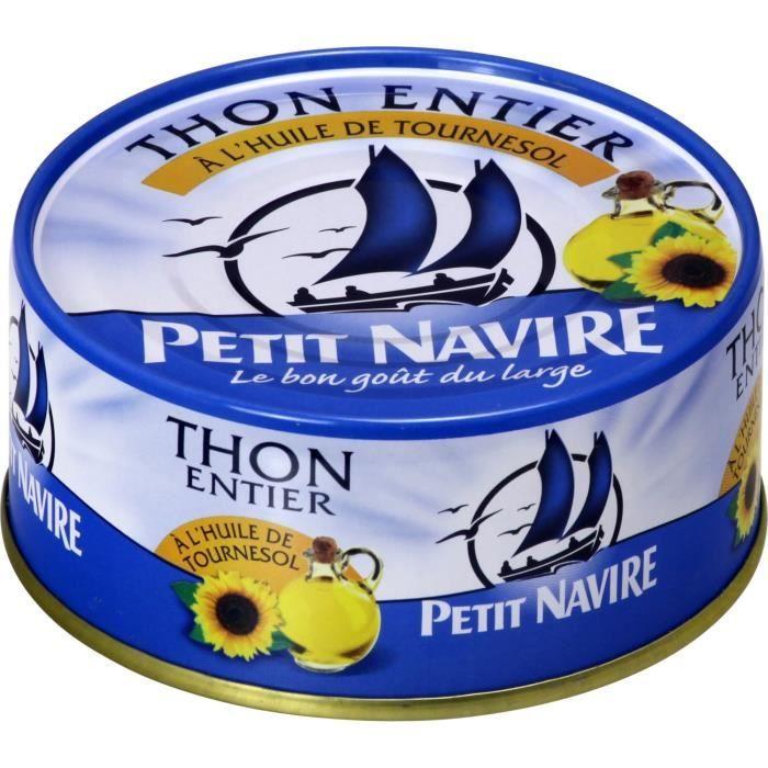 PETIT NAVIRE Thon entier à l'huile tournesol - 160 g