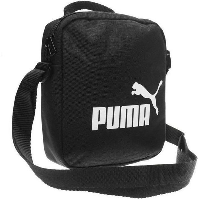 Nouvelle Sacoche Puma Noire Logo Blanc CAT