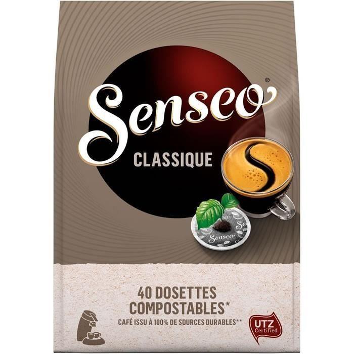 LOT DE 10 - SENSEO Classique 40 Dosettes de café