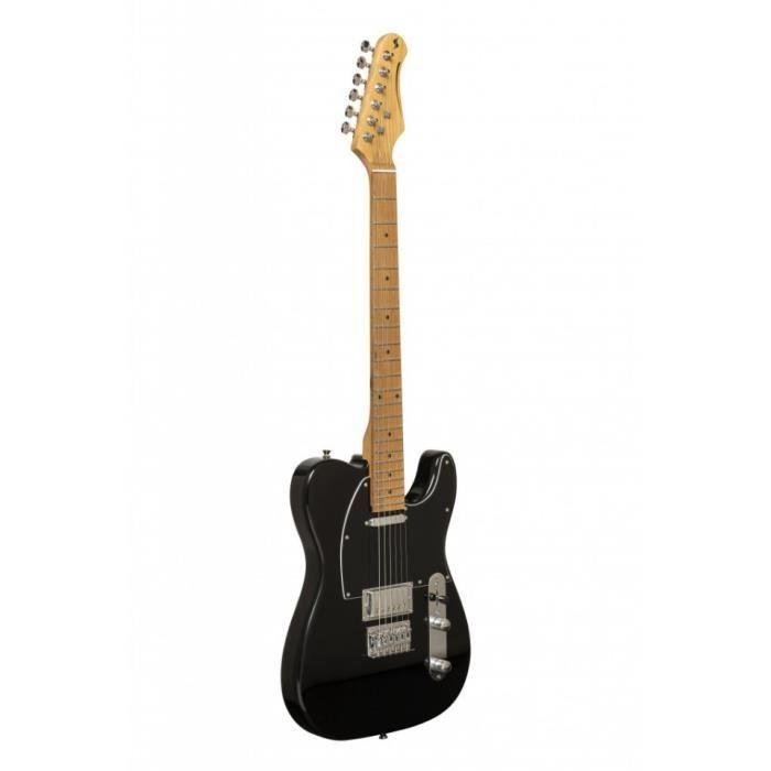 Stagg SET-PLUS BK - Guitare électrique Vintage série ''T''- plus - noire