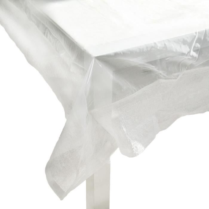 Nappe ORGANZA FROISSÉE (150x150cm) Blanc Moyen