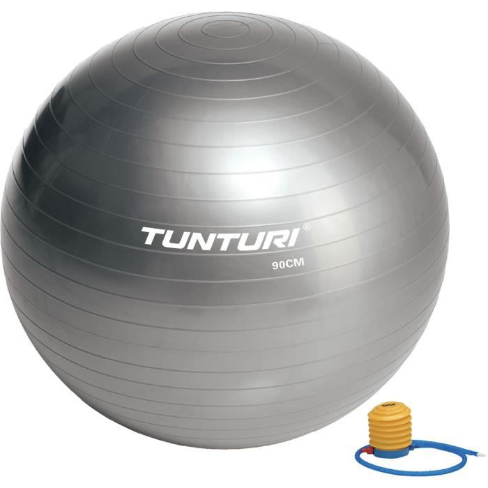 TUNTURI Gym ball ballon de gym 90cm argent