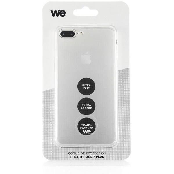 WE Coque de protection pour iPhone 7 Plus - Semi rigide - Transparente