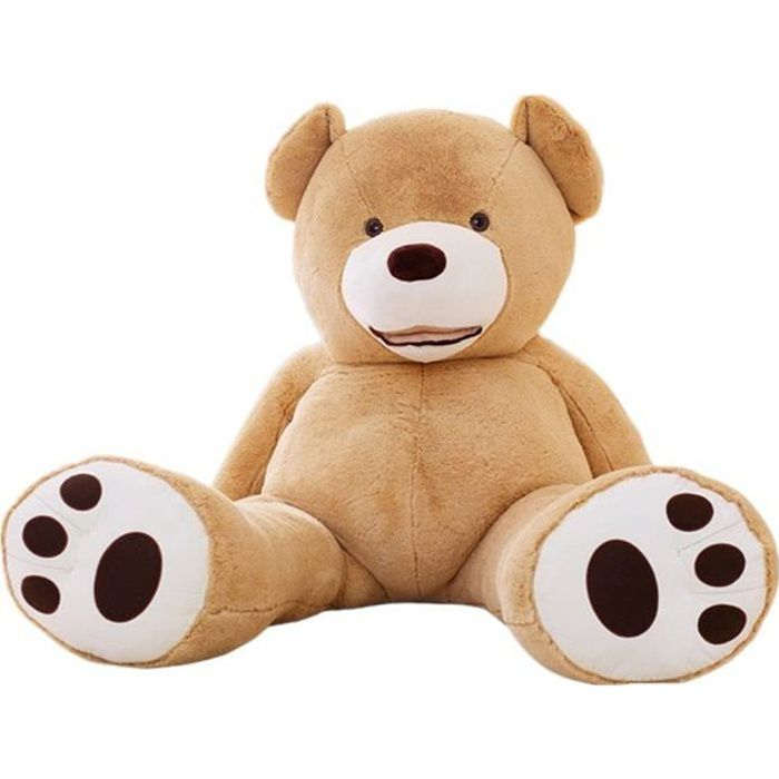 YunNasi 130cm Nounours Géant Peluche Grosse Ours XXL Grand Animal