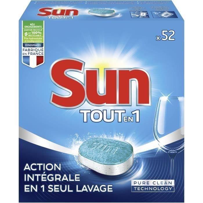 SUN Tabs Tout en 1 Standard - 4 mois de lavages - 52 tabs