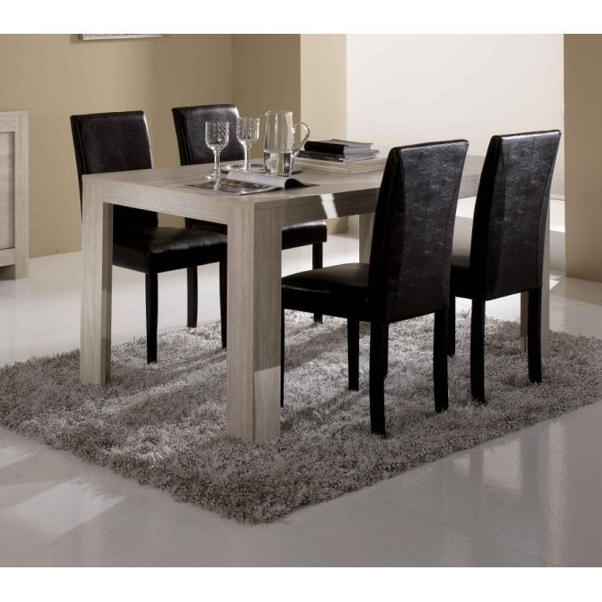 table pisa blanchi achat vente table a manger seule table pisa blanchi bois mdf cdiscount. Black Bedroom Furniture Sets. Home Design Ideas